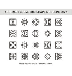 Abstract geometric shape monoline 26 vector