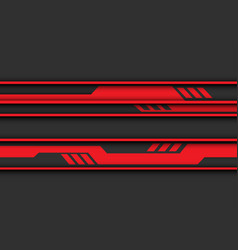 abstract red circuit banner on grey design modern vector image