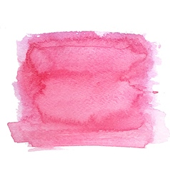 Abstract watercolor hand paint magenta texture vector image