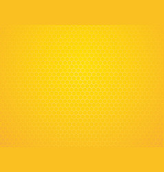 abstract yellow geometric hexagon background vector image
