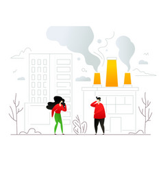 air pollution - modern colorful flat design style vector image