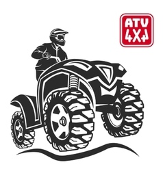 Atv all-terrain vehicle off-road design elements vector