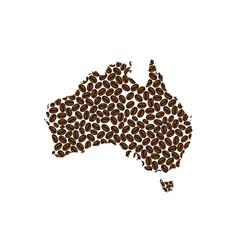australia - map of coffee bean vector image