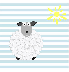 baby wallpaper with sheep vector image