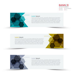 banner design template and mockup minimalist vector image