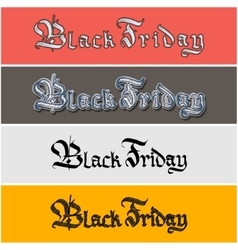 Black Friday lettering sticker vector image