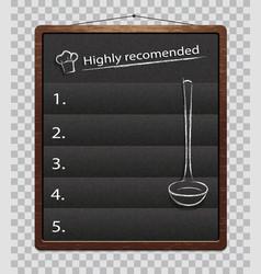 Black menu boards isolated chalkboard for menu vector