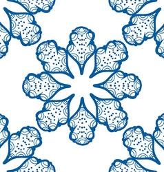 Blue floral patterned background vector