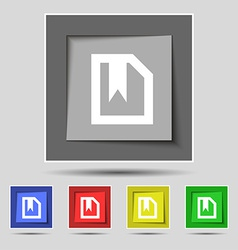 bookmark icon sign on the original five colored vector image