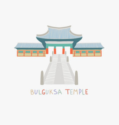 Bulguksa temple is one most famous buddhist vector