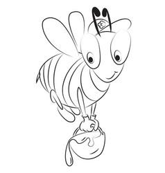cartoon image of unhappy bee vector image