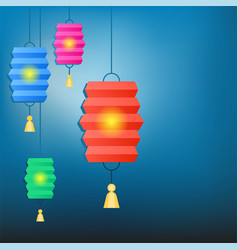 Chinese lantern background for chinese new year vector