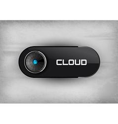 Cloud Button vector image