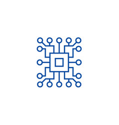 computer sciencecircuit line icon concept vector image