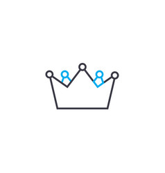 crowning of the winner thin line stroke vector image