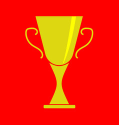 Cup winner sign on red 2603 vector