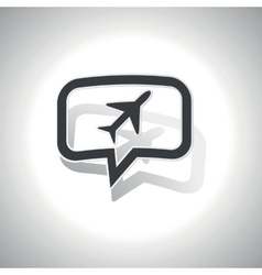 Curved plane message icon vector image