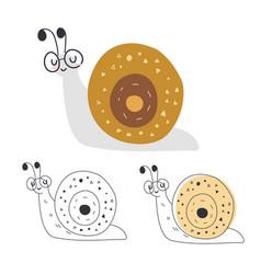 cute cartoon a snail character vector image