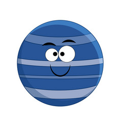 cute cartoon neptune planet vector image