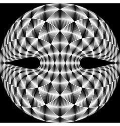 Design warped diamond trellised backdrop vector
