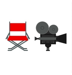 Director movie chair vector image