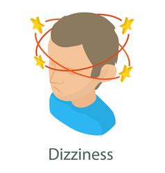 Dizziness icon isometric style vector