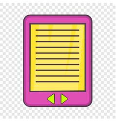 E-book icon cartoon style vector