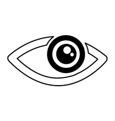 eye human sign isolated icon vector image