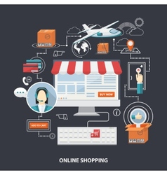 flat design shopping concept vector image