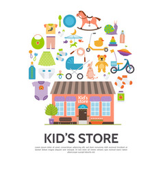 flat kids store concept vector image