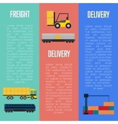 Freight and delivery flyers set vector image
