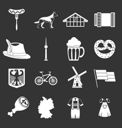 Germany icons set grey vector
