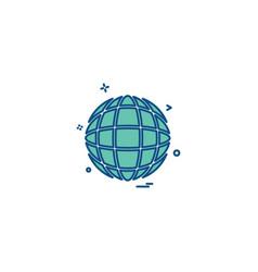 globe icon design vector image