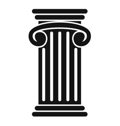 greek pillar icon simple style vector image