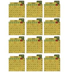 grunge 2012 calendar vector image