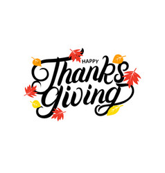 Happy thanksgiving hand written lettering vector