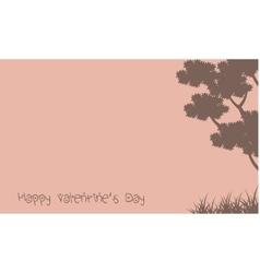 Happy valentine day with tree scenery vector image