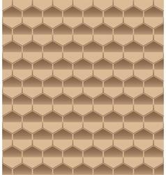 hexagon seamless brown vector image
