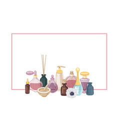 Horizontal background decorated perfume and vector