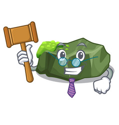 Judge green rock moss isolated on cartoon vector