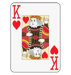 Jumbo index king of hearts vector