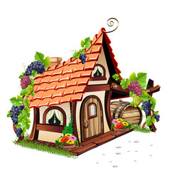little fairy house vector image