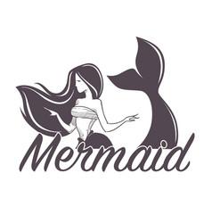 mermaid swimming marine company siren isolated vector image