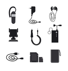 Mobile accessories devices vector