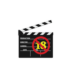 Movie clipper with under 18 sign vector