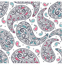 Paisley seamless pattern ornament vector