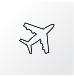 plane icon line symbol premium quality isolated vector image