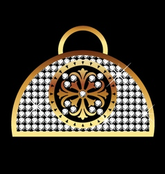 Purse gold vector