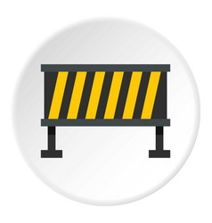 Safety barricade icon circle vector