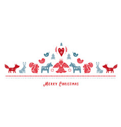 scandinavian style christmas banner background vector image
